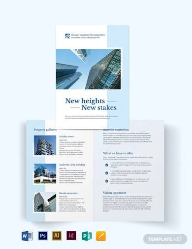 commercial real estate bi fold brochure