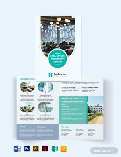 commercial rental bi fold brochure