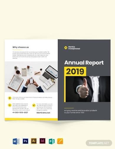 company annual report bi fold brochure