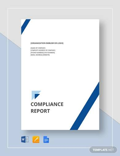 compliance report template