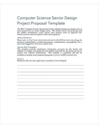 computer science project proposal template