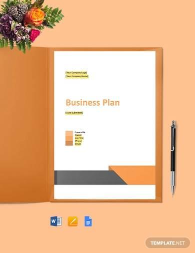 computer support business plan template