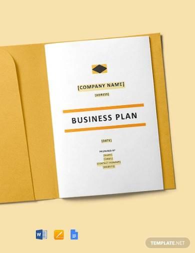 construction start up business plan template