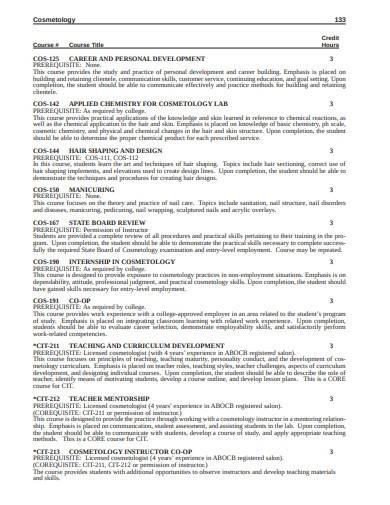 cosmetology lesson plan sample