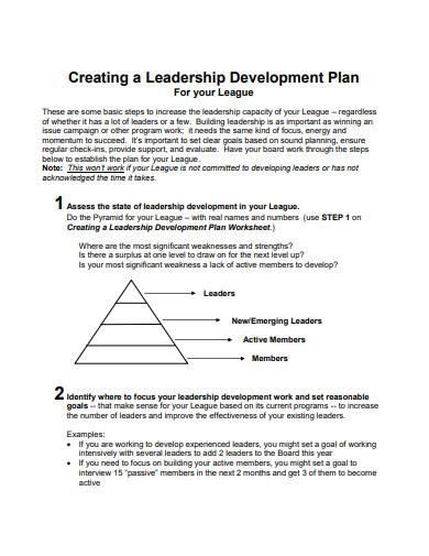 creating a leadership development plan