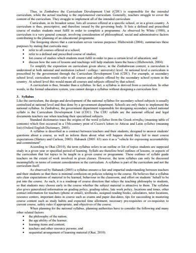curriculum lesson plan template