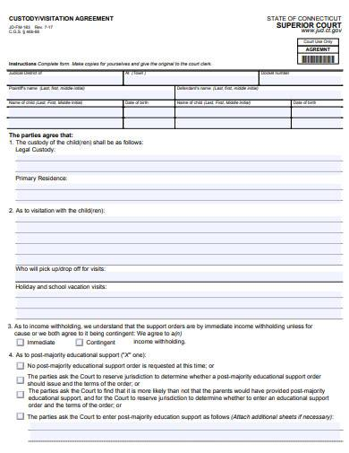 FREE 15+ Custody Agreement Samples in MS Word | Pages ...