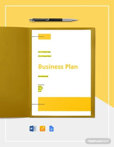 database software business plan template