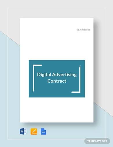 digital advertising contract template