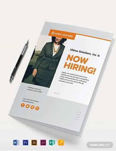 employee recruitment bi fold brochure