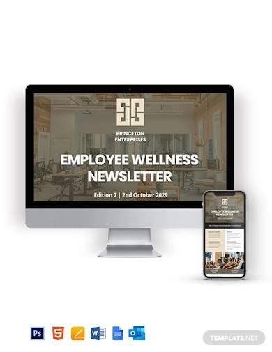 employee wellness newsletter template