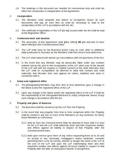 formal limited liability partnership agreement