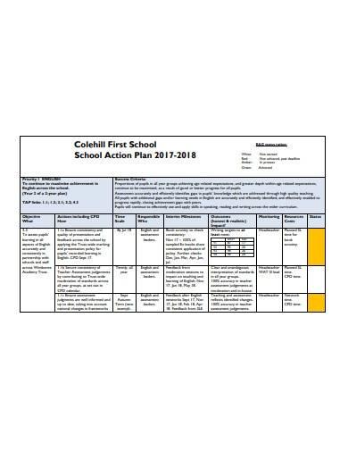 formal school action plan