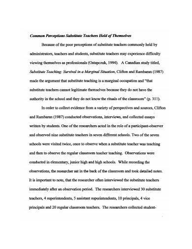 formal substitute teacher lesson plan