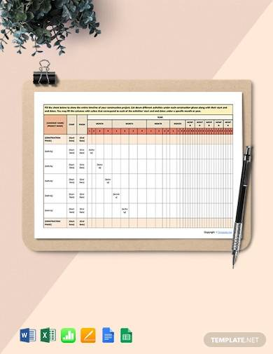 free basic construction schedule sample