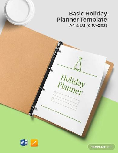 free basic holiday planner template