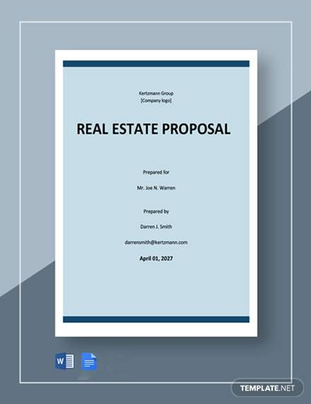free basic real estate proposal template