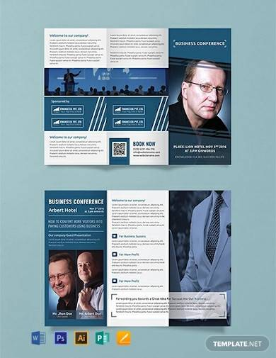 free business conference a3 tri fold brochure