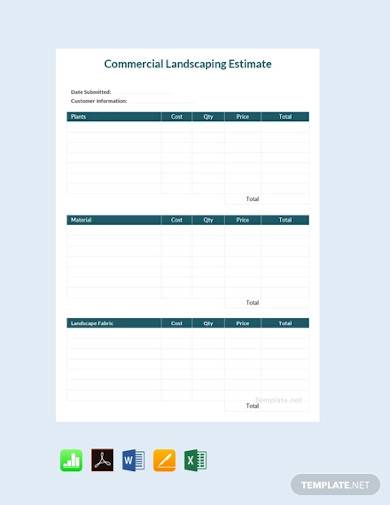 free commercial landscaping estimate