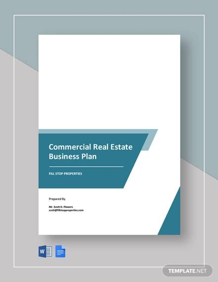 free commercial real estate business plan template