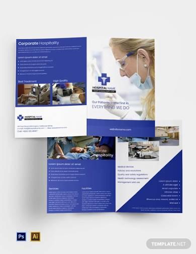 free healthcare bi fold brochure template