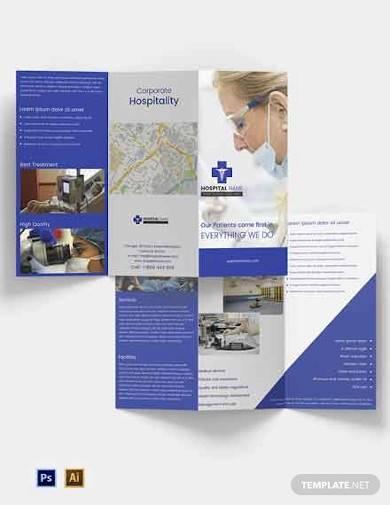 free healthcare tri fold brochure