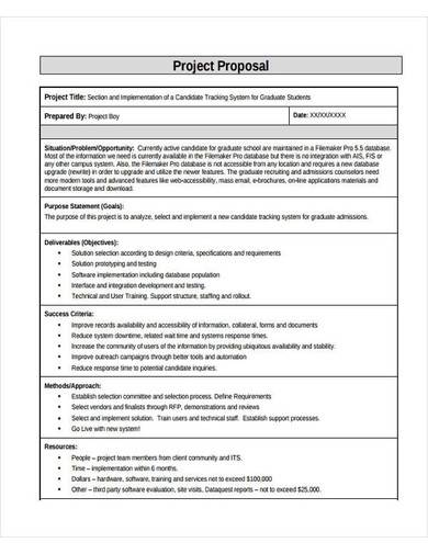 free it project proposal sample