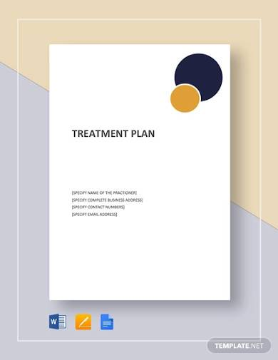 free sample treatment plan template