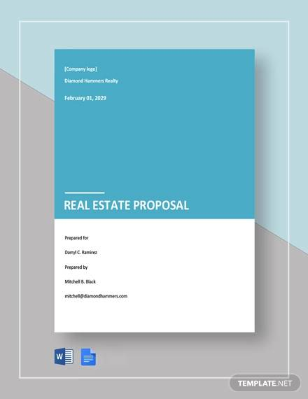 free simple real estate proposal template