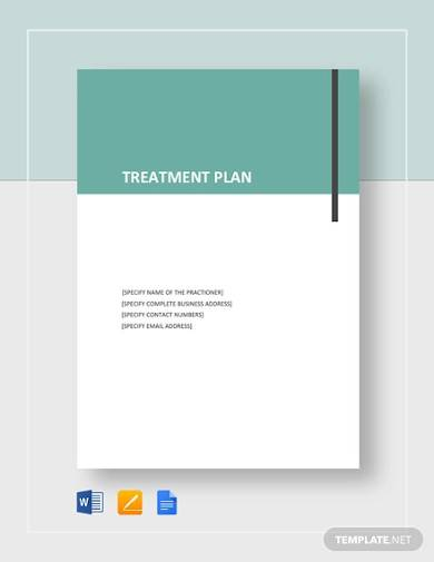 free simple treatment plan template