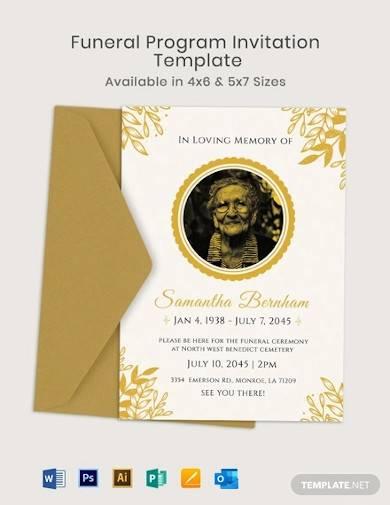 funeral program invitation template1