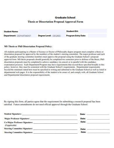 graduate school research proposal template
