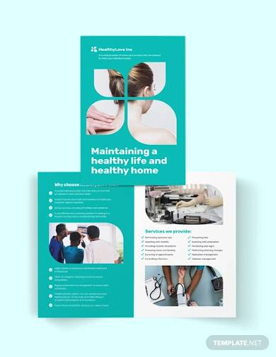 home healthcare bi fold brochure