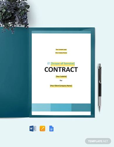 it service maintenance contract template