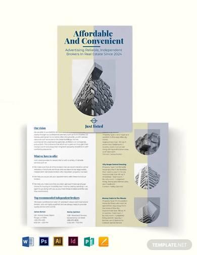 independent real estate broker bi fold brochure