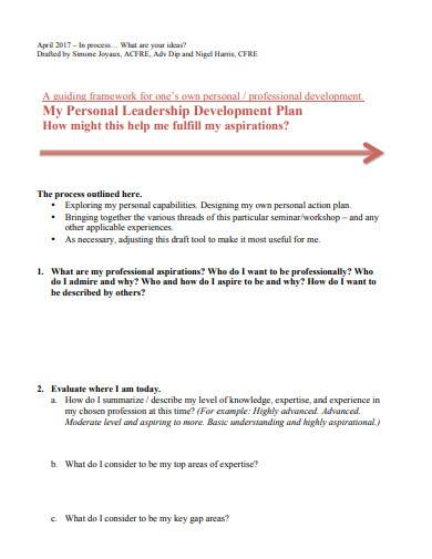 individual leadership development plan