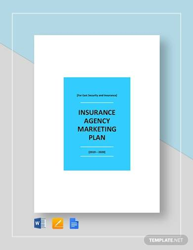 insurance agency marketing plan template