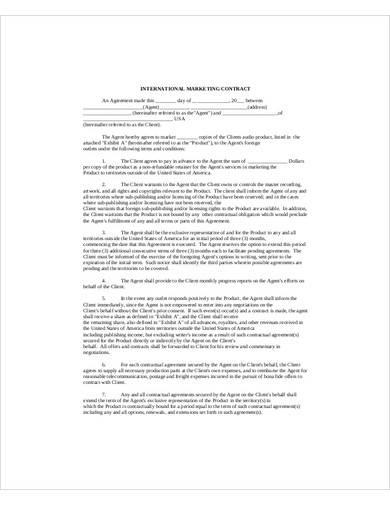 international marketing contract template