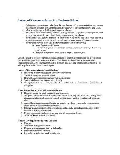 letter of recommendation for graduate school in pdf