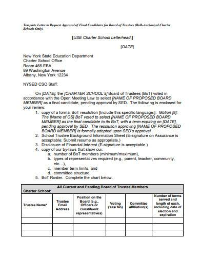 letter to request approval template
