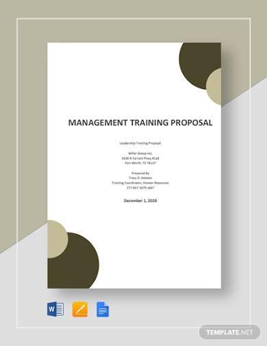 management training proposal template