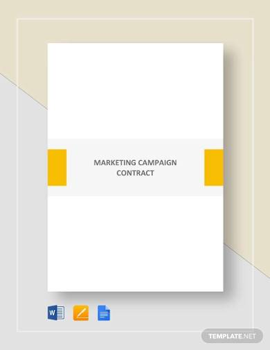 marketing campaign contract sample