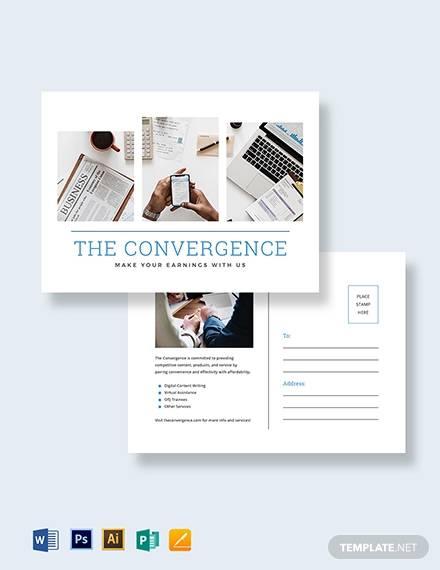 marketing postcard template