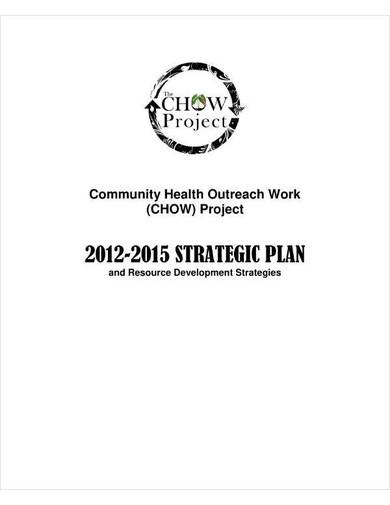 non profit project strategic plan template