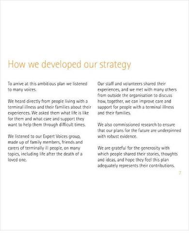 nonprofit health care strategic plan