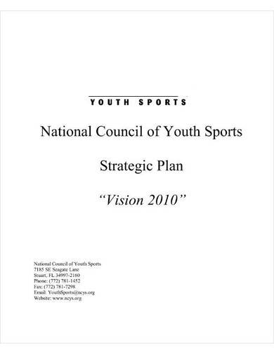 nonprofit sports club strategic plan