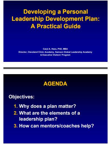 personal leadership development plan