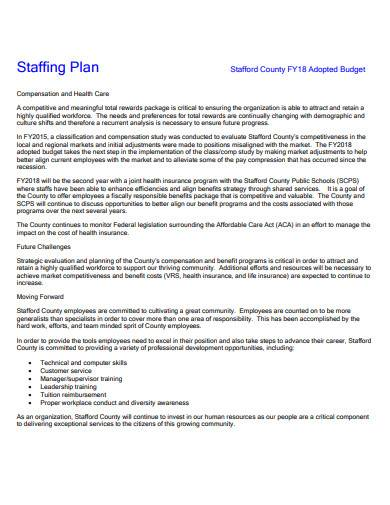 personnel staffing plan sample