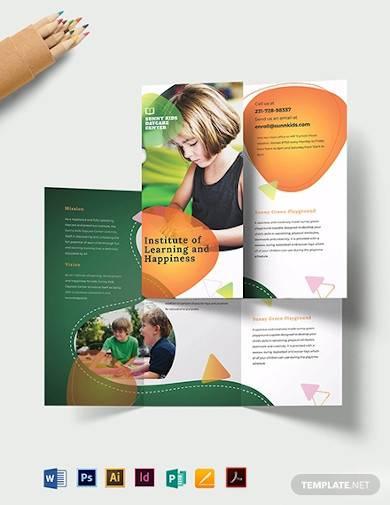 preschool tri fold brochure template