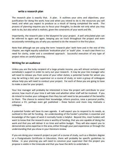 printable research study plan
